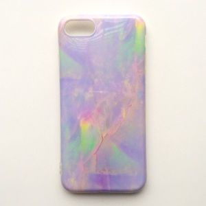 Accessories - NEW iPhone 7/7+/8/8+ Case Lilac Marble Granite